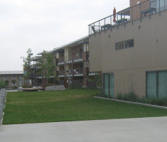 Drivable Grass® Permeable Pavers Placed in the Courtyard at the Pitzer College Residential Life Project Phase II – This Award Winning Project Achieved LEED Platinum Certification