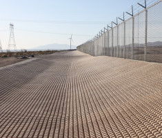 Ocotillo Express Wind Project With a Drivable Grass® Pavement