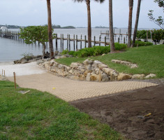 This Boat Ramp Was Paved With Drivable Grass® Permeable Pavers