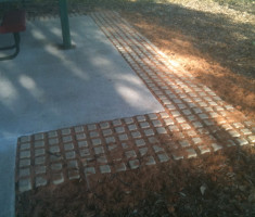 Dog Park Pathway Paved With Drivable Grass® Pavers